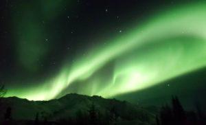 Northern lights, aurora borealis, Fairbanks, Alaska, cellphone photography